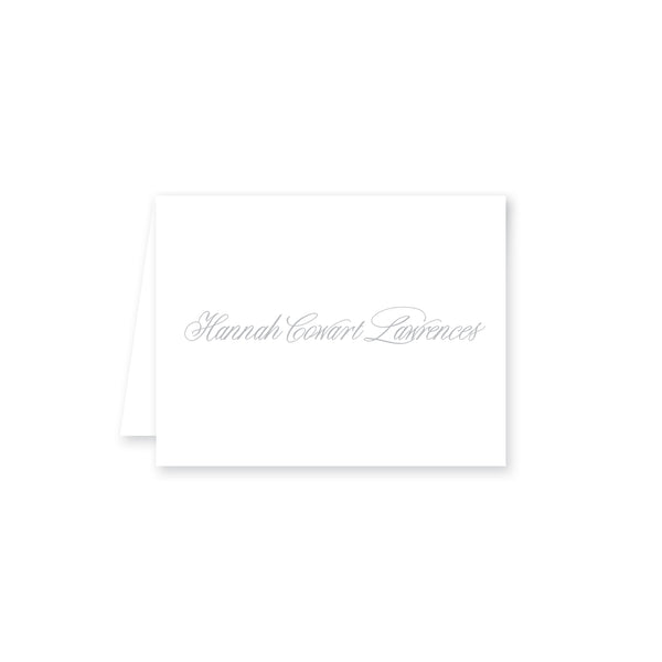 Brush Script Folded Note Card