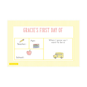School Bus First & Last Day Laminated Sign