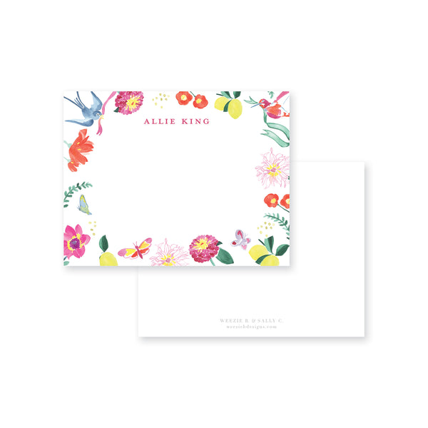 Weezie B. Designs | Butterfly Garden Flat Note Cards