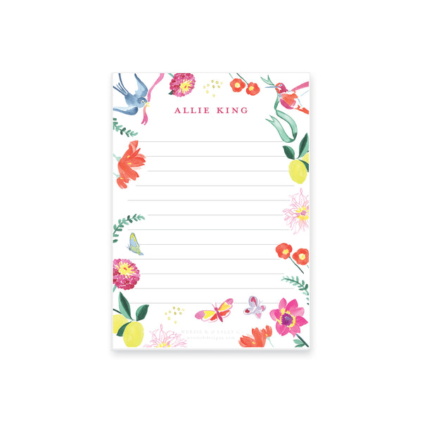 Butterfly Garden Notepad