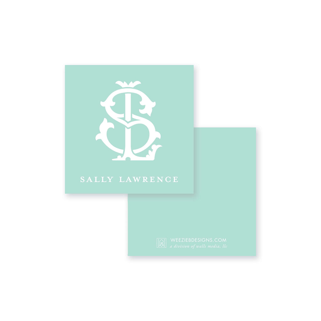 Weezie B. Designs | Two-Letter Intertwine Calling Card