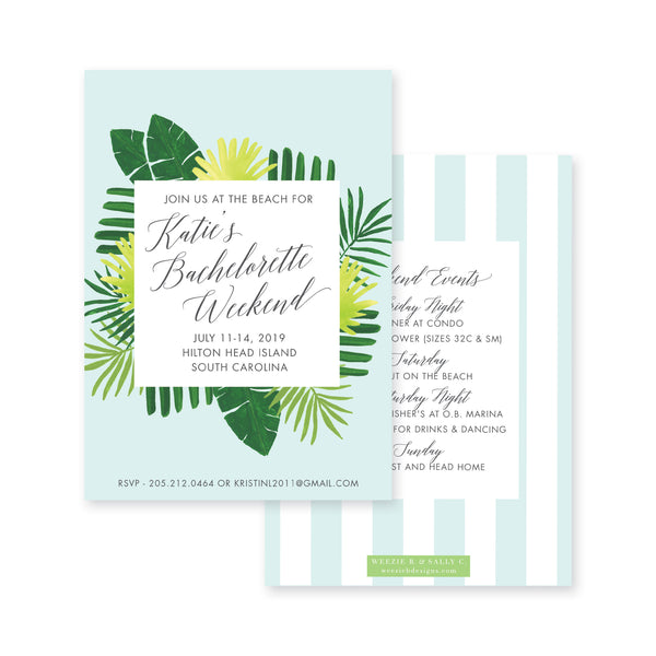 Weezie B. Designs | Chic Palms Bachelorette