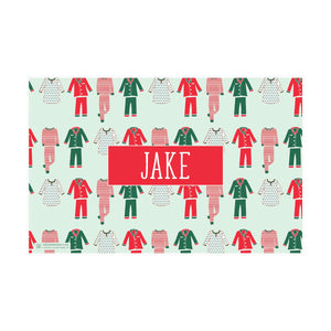 Christmas Cookies and Pajamas Placemat