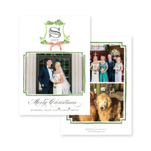Load image into Gallery viewer, Christmas Watercolor Crest Christmas Card