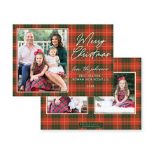 Load image into Gallery viewer, Cozy Plaid Christmas Card