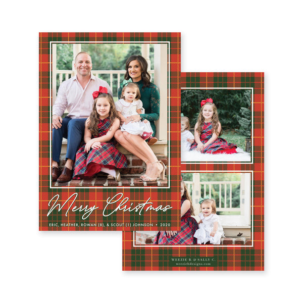 Cozy Plaid Christmas Card
