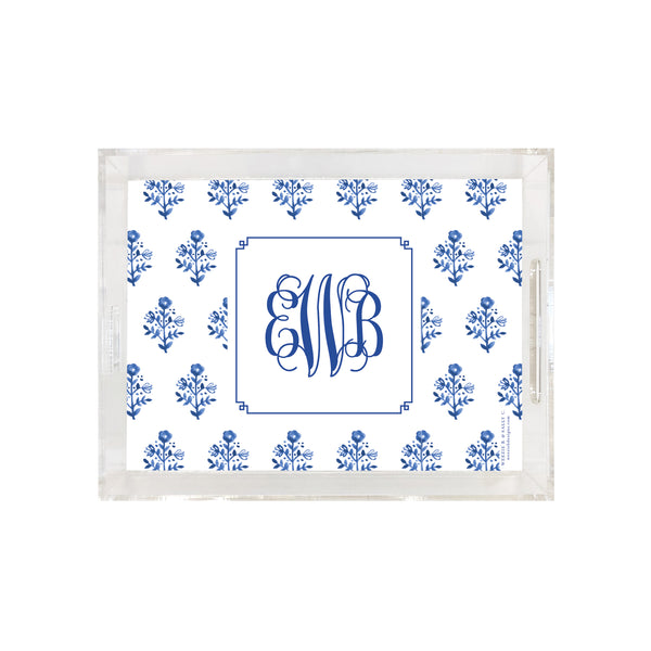 Delft Flowers Tray
