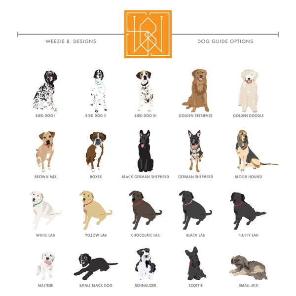 Dog Illustrated Permanent Stickers