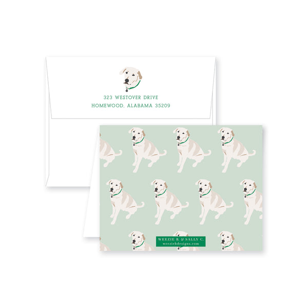 Weezie B. Designs | White Lab Folded Note Cards