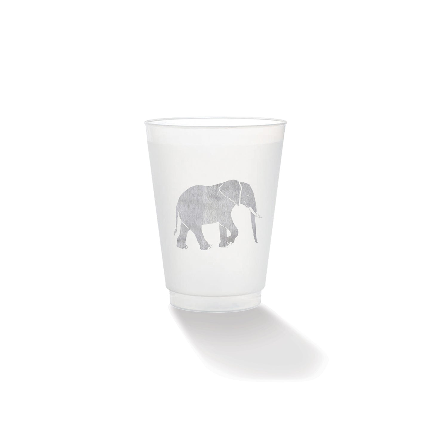 Elephant Frosted Cup (set of 10)