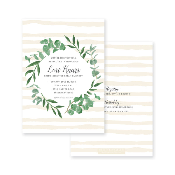 Eucalyptus On Stripes Bridal