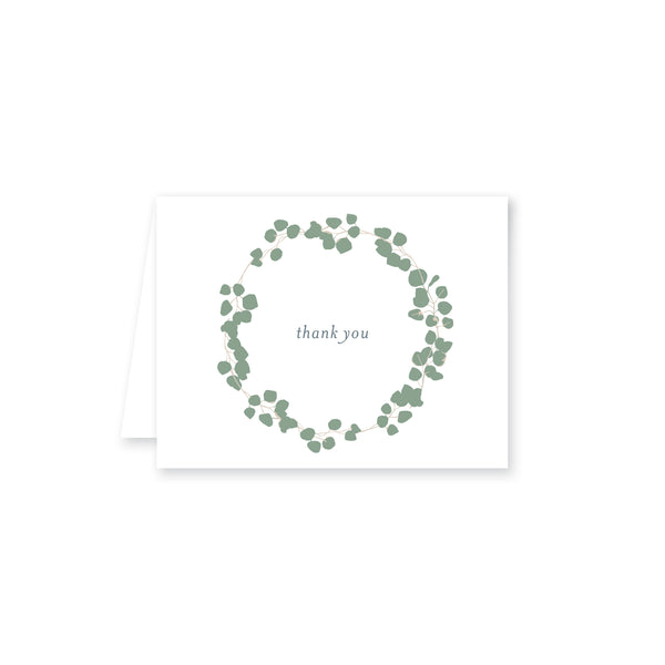 Weezie B. Designs | Eucayptus Wreath Folded Note Cared