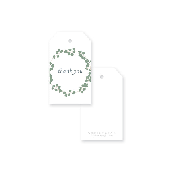 Eucalyptus Wreath Thank You Gift Tag