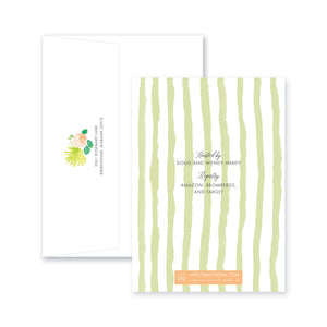 Weezie B. Designs | Fiesta In Watercolor Engagement Party Invitation