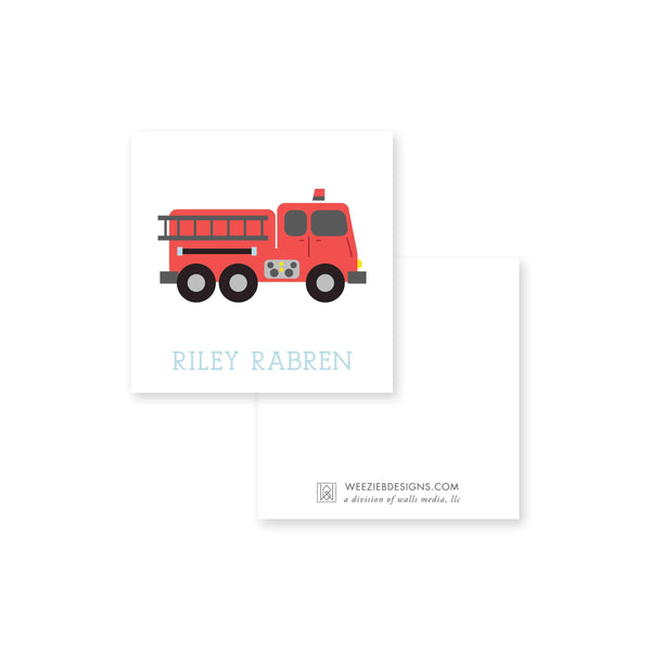 Sweet Fire Truck Calling Card
