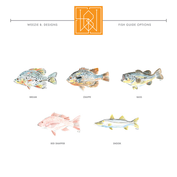 Watercolor Fish II Permanent Stickers