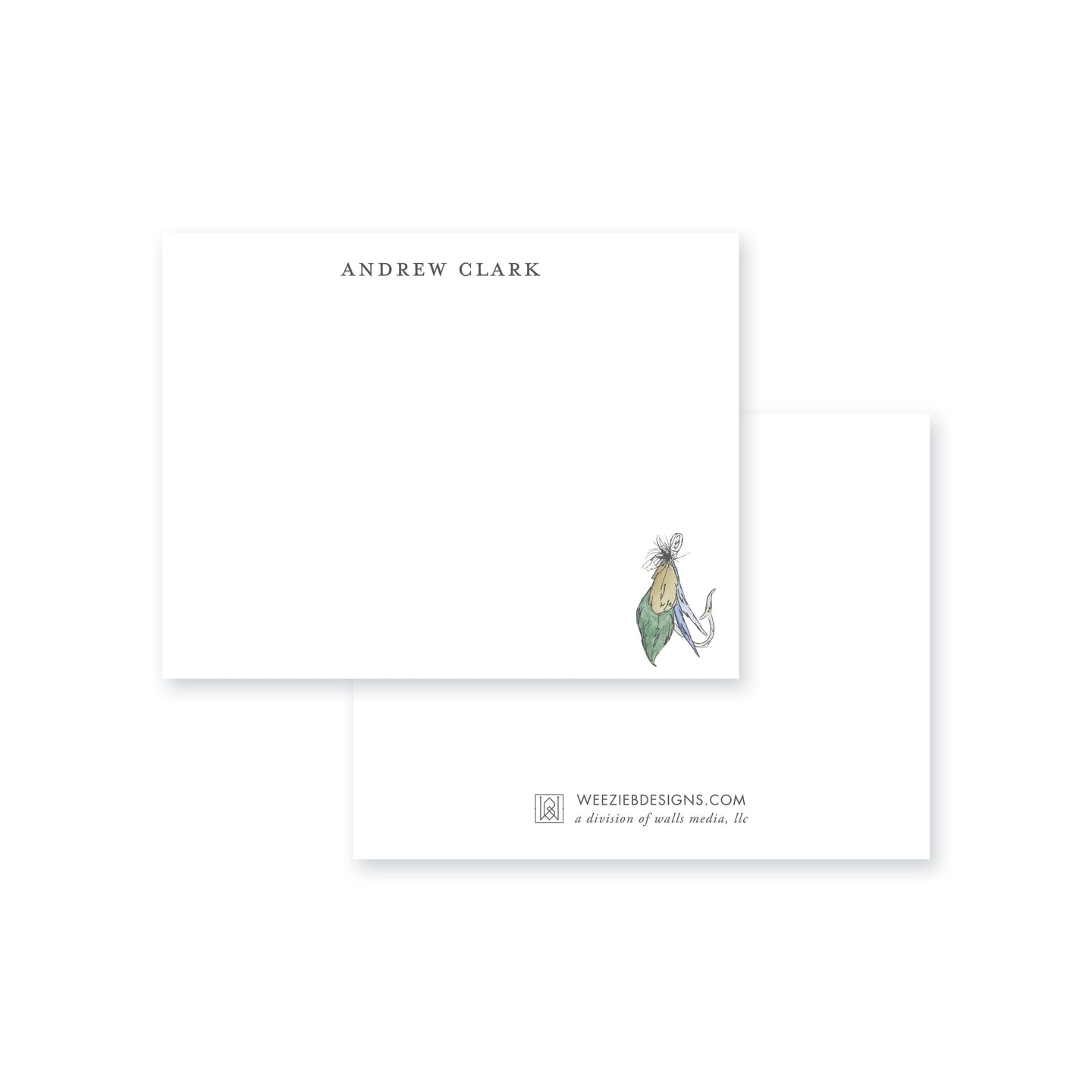 Weezie B. Designs | Fishing Fly Flat Note Card