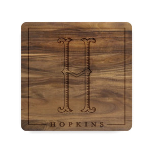Framed Monogram and Name Cutting Board