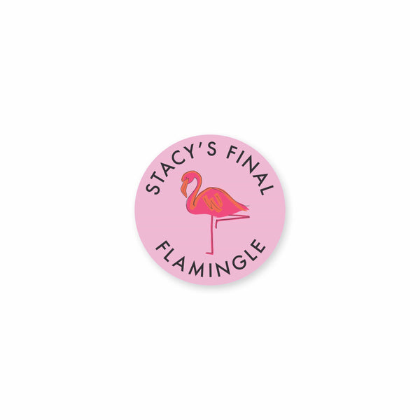 Let's Flamingle Vinyl Stickers