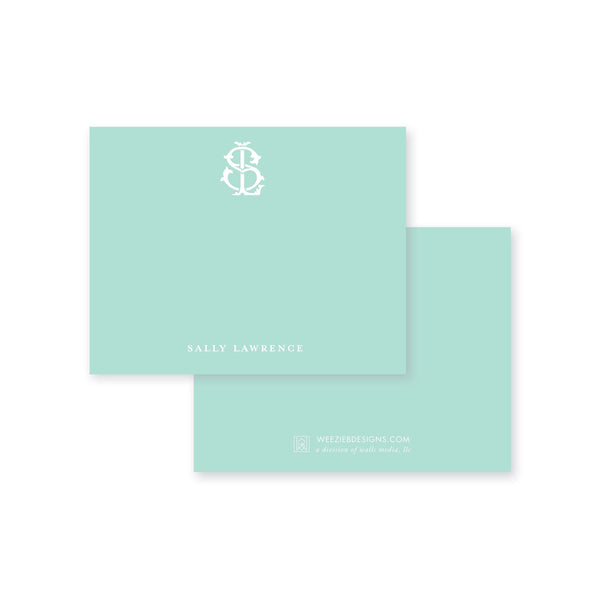 Weezie B. Designs | Two-Letter Intertwine Flat Note Cards