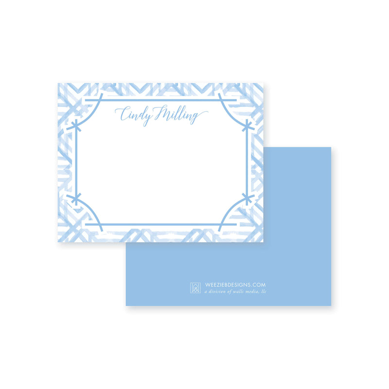 Weezie B. Designs | Watercolor Bamboo Flat Note Card