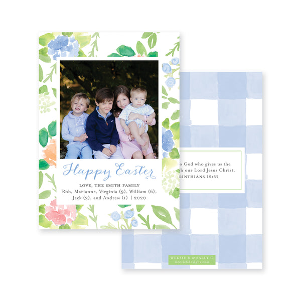 Weezie B. Designs | Floral With An Edge Easter Card