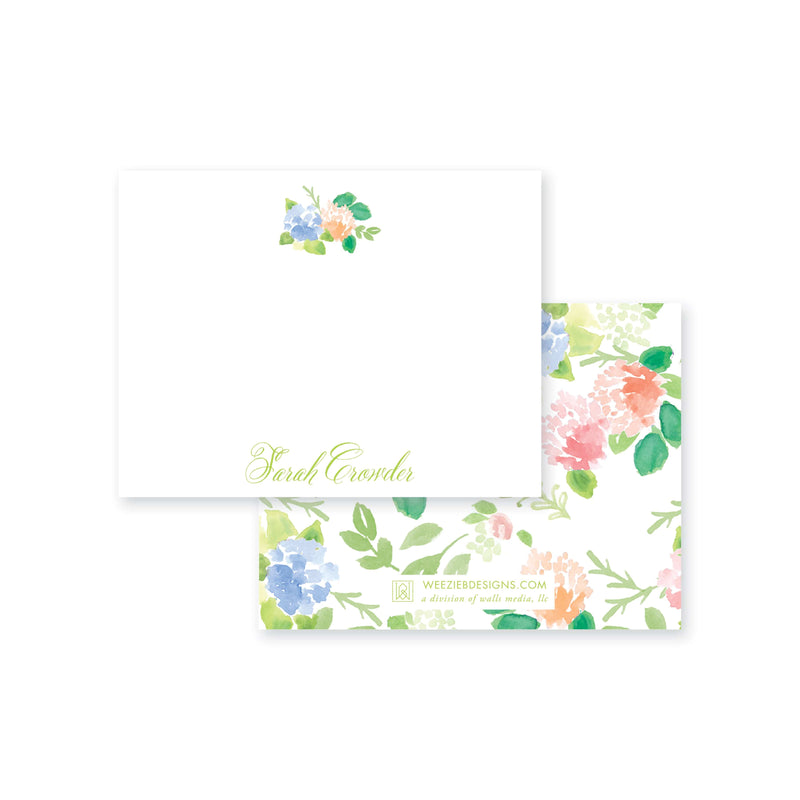Weezie B. Designs | Floral With An Edge Flat Note Cards