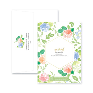 Weezie B. Designs | Floral with an Edge Shower Invitation
