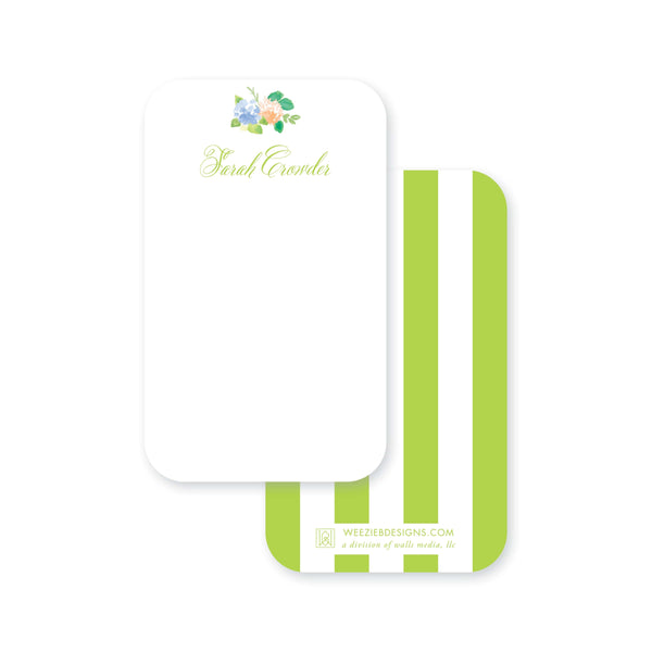 Weezie B. Designs | Floral With An Edge Pocket Note Card