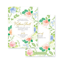 Load image into Gallery viewer, Weezie B. Designs | Floral with an Edge Shower Invitation
