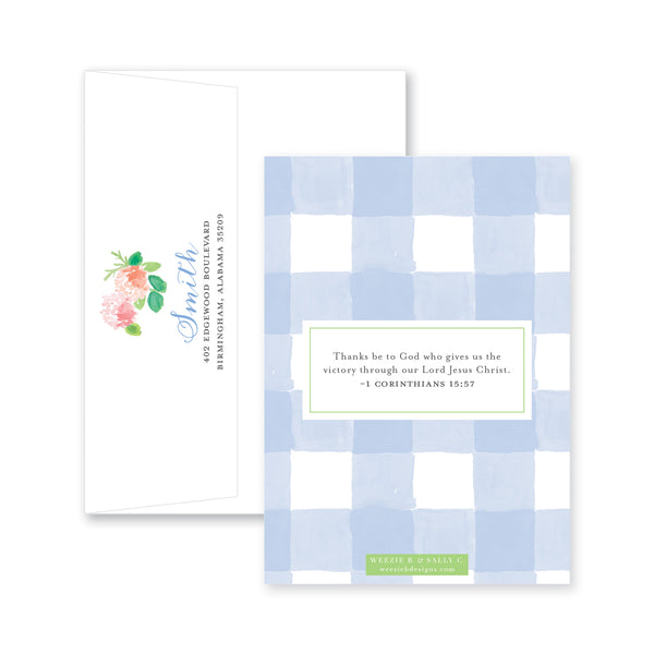 Floral With An Edge Easter Card