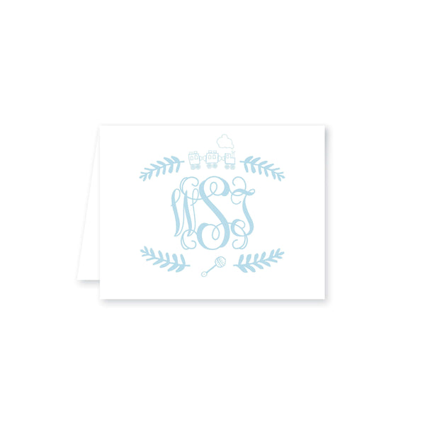 Weezie B. Designs | Train with Monogram and Rattle