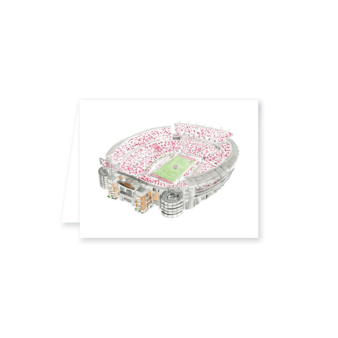 Weezie B. Designs | Bryant Denny Stadium Watercolor Folded Note Card Set