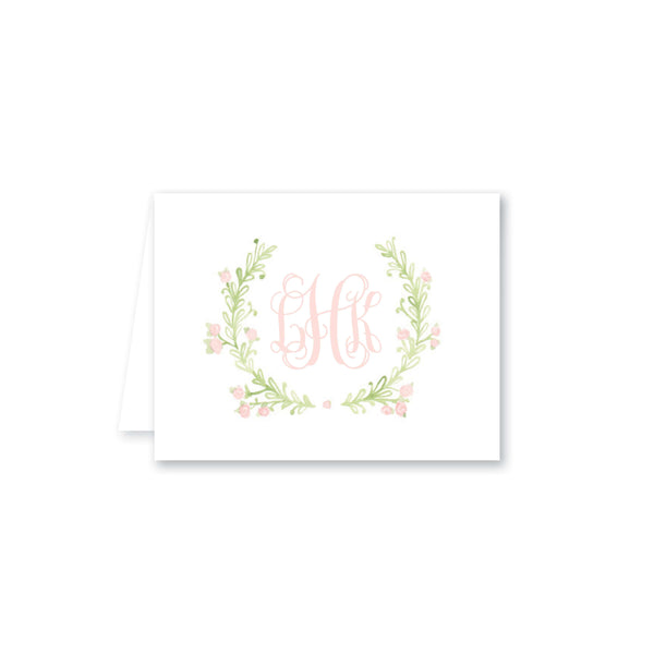 Weezie B. Designs | Sweet Watercolor Wreath Folded Note Card