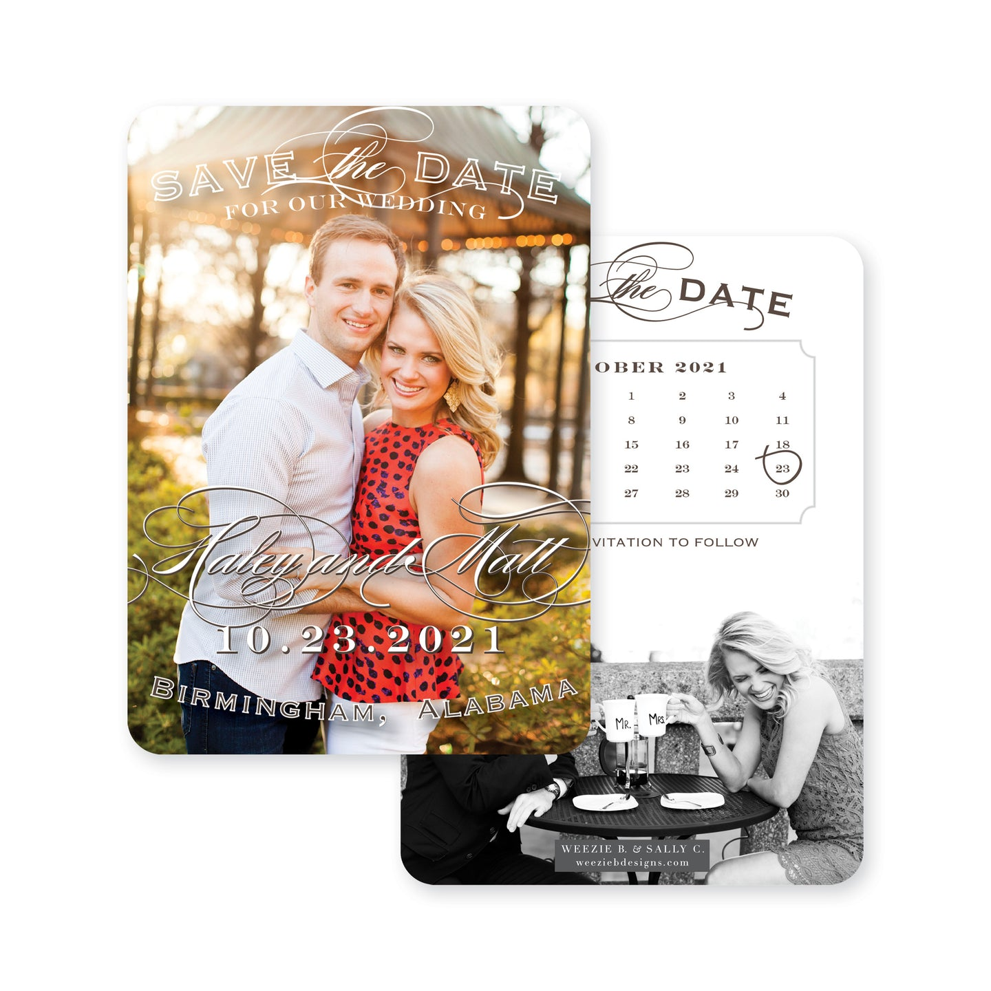 Weezie B. Designs | Full Photo with Calendar Save the Date