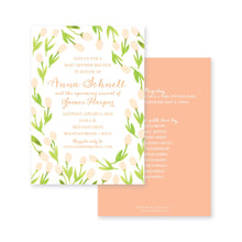 Load image into Gallery viewer, Weezie B. Designs | Garden of Tulips Baby Shower Invitation