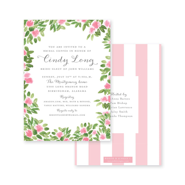 Weezie B. Designs | Garden Party Bridal Shower Invitation