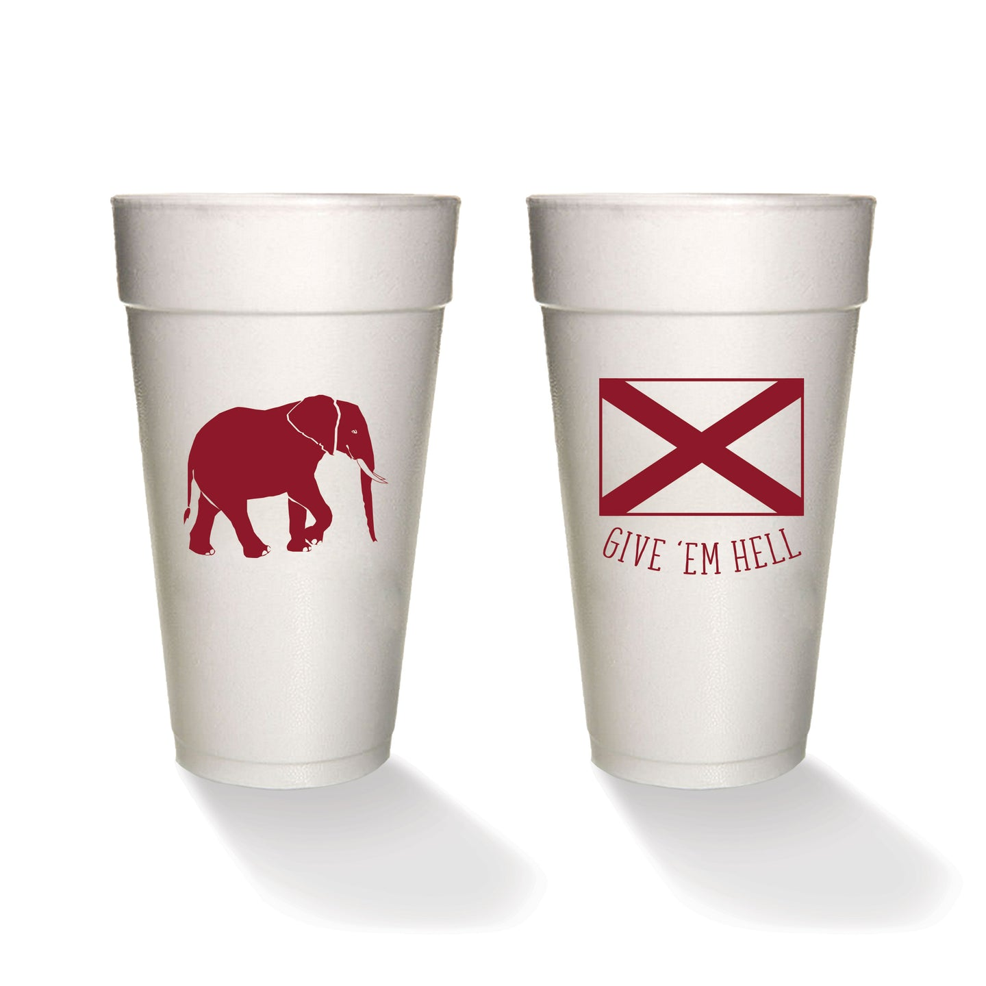 Give 'Em Hell Styrofoam Cups (set of 8)