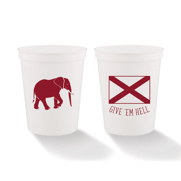 Give 'Em Hell Stadium Cups (set of 4)
