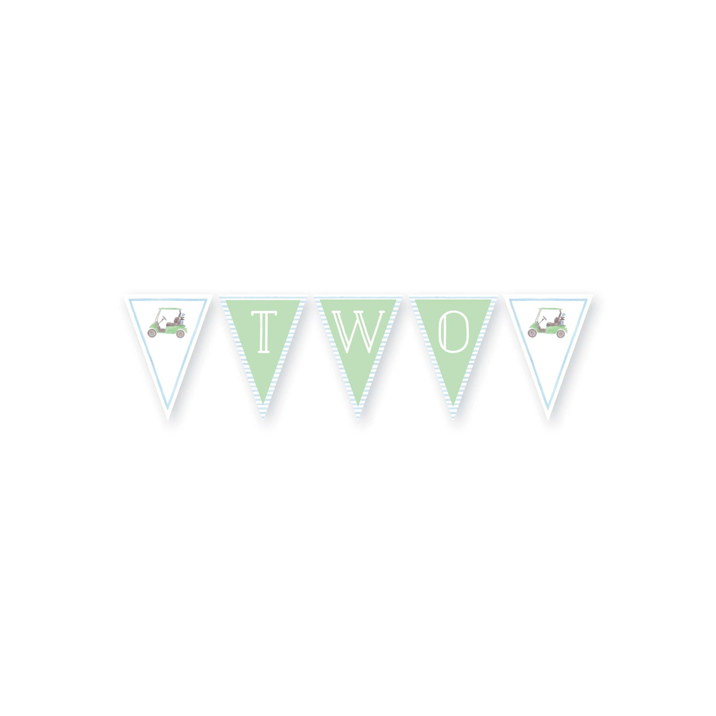 Weezie B. Designs | Watercolor Golf Cart Cake Banner
