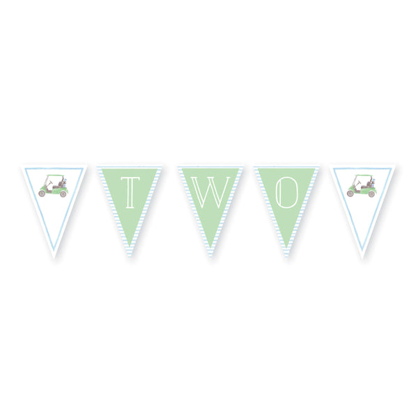 Watercolor Golf Cart Banner