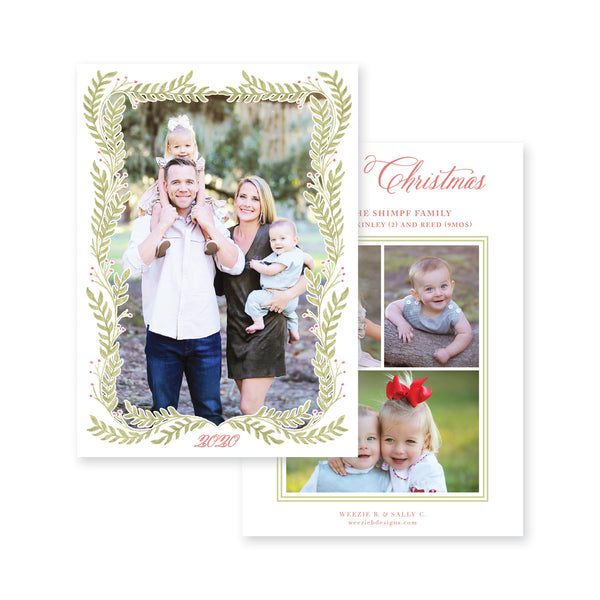 Holiday Garland Full Photo Christmas Card