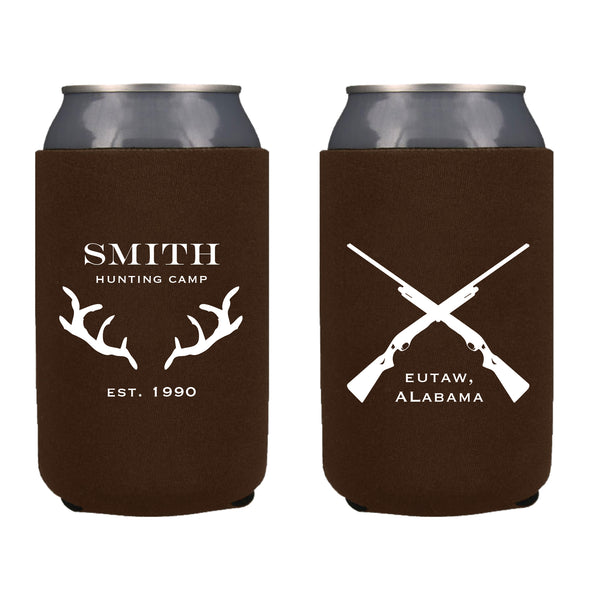 Hunting Camp In The Woods Koozie