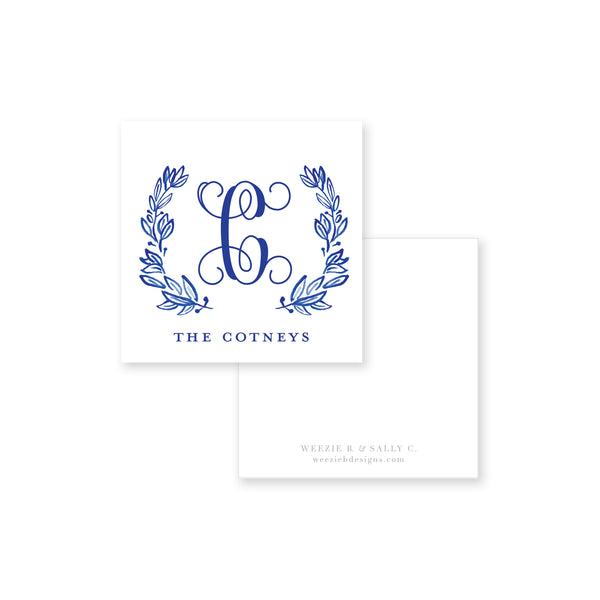 Laurel 7 Watercolor Calling Card