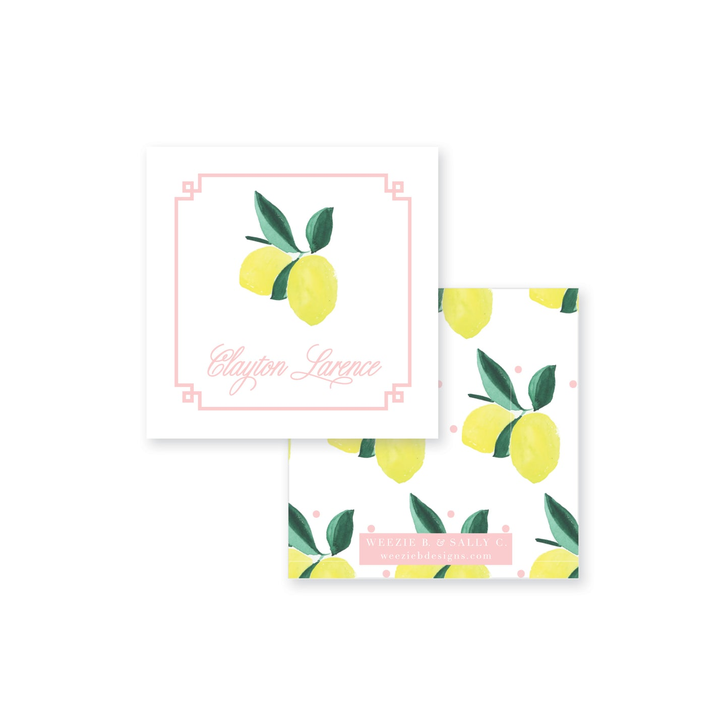 Lemon Polka Dot Calling Card