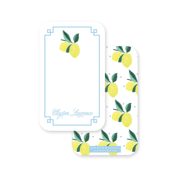 Lemon Polka Dot Pocket Note