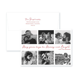 Weezie B. Designs | Merry and Bright Christmas Card