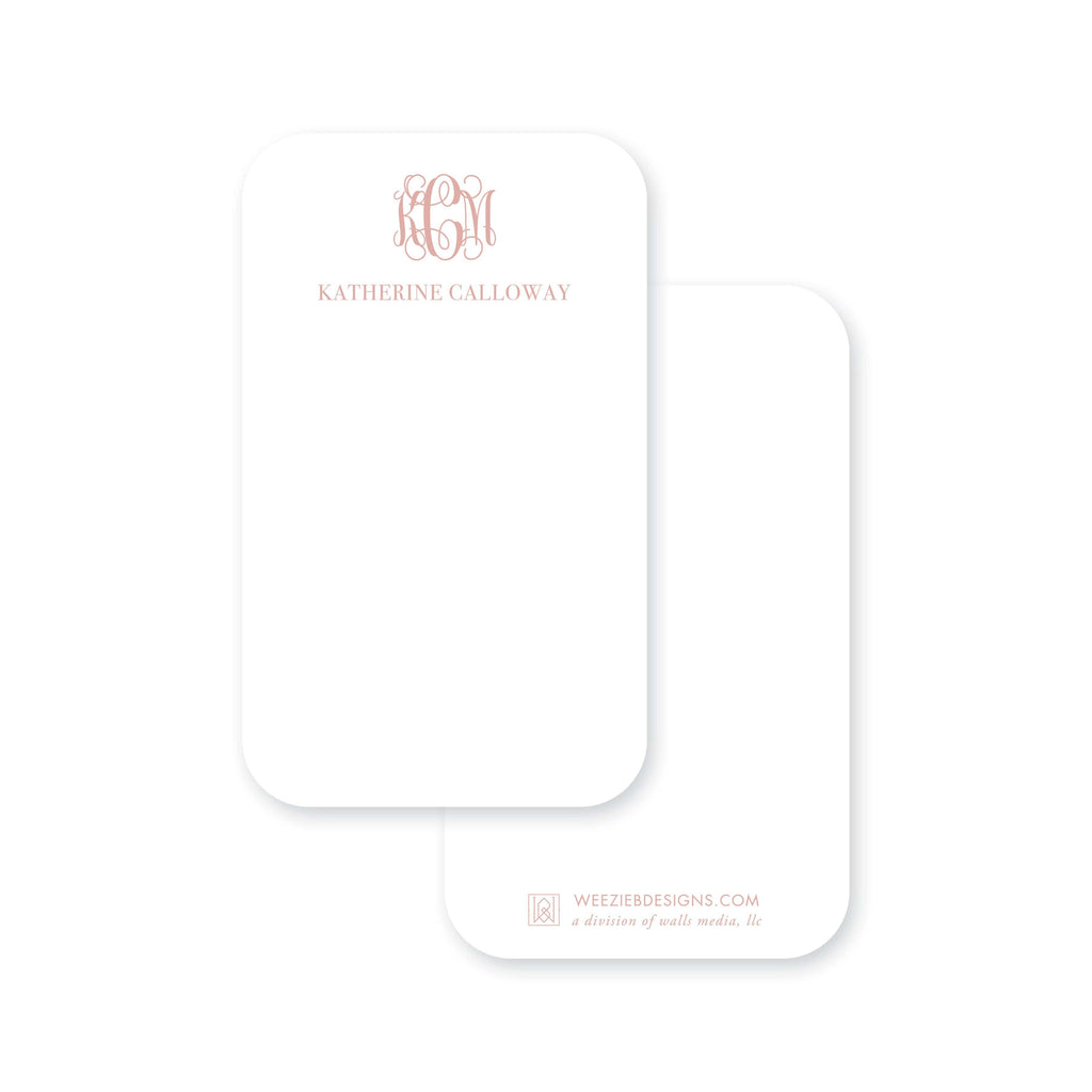 Weezie B. Designs | Greek Key Border Monogram Pocket Note Cards