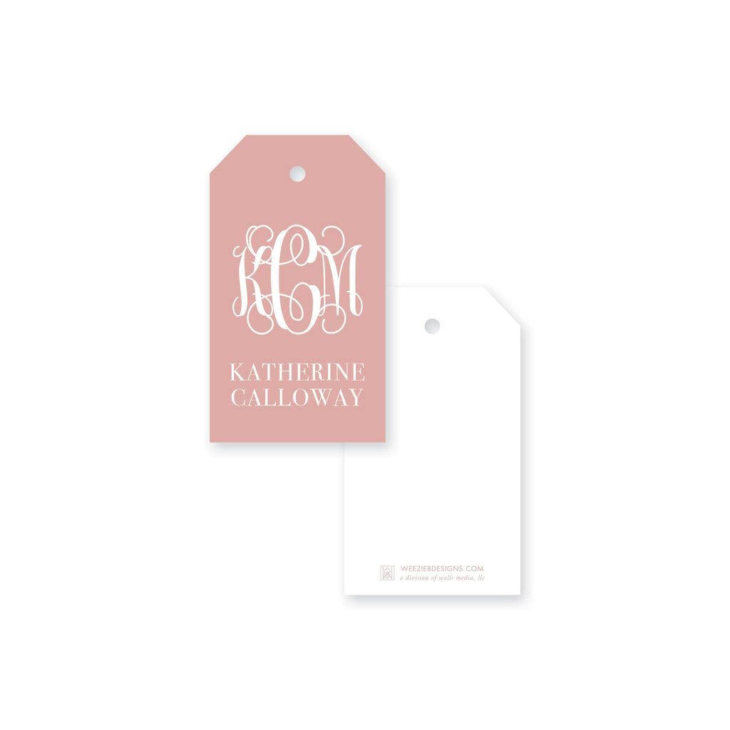 Weezie B. Designs | Greek Key Border Monogram Gift Tag