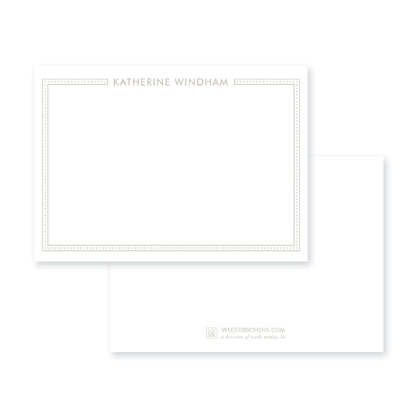 Dot Line Flat Note Card